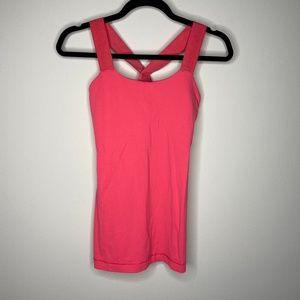 Lululemon Pink V-Neck Activewear Tank Top 4